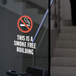 This Is A Smoke Free Building Window Decal