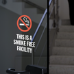 This Is A Smoke Free Facility Window Decal