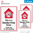 This Is A Smoke Free Home No Smoking Label Set