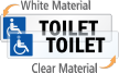 Toilet Restroom Label