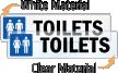 Toilets Restroom Label