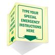 GlowSmart™ Custom Projecting Emergency Door Sign