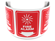 180 Degree Projecting Fire Alarm Sign with graphic