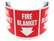 180 Degree Projecting Fire Blanket Sign
