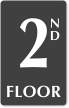 2nd Floor Engraved Sign