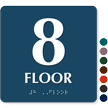 Floor Number 8 TactileTouch Braille Sign