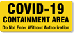 COVID-19 Containment Labels (5 Pack)