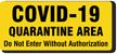 COVID-19 Quarantine Labels (5 Pack)
