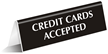 Cards Accepted Office Tabletop Tent Sign