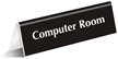 Computer Room TableTop Tent Sign