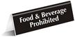 Food Beverage Prohibited Sign