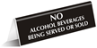 No Alcohol Office Tabletop Tent Sign