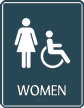 Women Restroom Handicap Symbol Sign