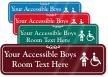 Accessible Boys Room Symbol Sign