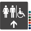 Men, Women & Accessible Pictograms With Up Arrow