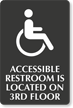 Accessible Restroom Custom Engraved Sign