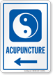 Acupuncture Left Arrow Hospital Sign