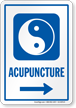 Acupuncture Right Arrow Hospital Sign