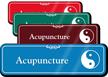 Acupuncture Taijitu Showcase Hospital Sign