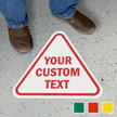 Ad Your Text Custom SlipSafe Floor Sign
