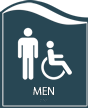 Pacific - Men Restroom Sign