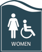 Pacific - Women Restroom Sign