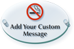 Add Custom No Smoking Message ClearBoss Sign