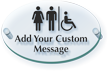 Add Custom Restroom Message ClearBoss Sign