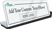 Add Logo Custom Social Distancing ShowCase Desk Sign