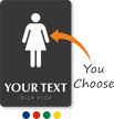 Add Your Custom Text Braille Restroom Sign