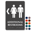 Additional Restrooms Left TactileTouch™ Braille Sign