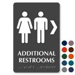 Additional Restrooms Right TactileTouch™ Braille Sign