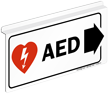 AED Sign with Right Arrow and Symbol