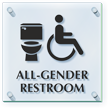 All Gender And Handicap Restroom ClearBoss Sign