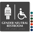 Handicap Gender Neutral Restroom Braille Sign