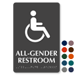 All-Gender TactileTouch Restroom ISA Symbol Braille Sign