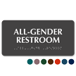 All-Gender Restroom Sign with Braille
