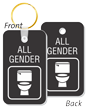 All-Gender Restroom Key Tag