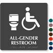 All-Gender ISA Restroom Braille, Toilet Symbol Sign
