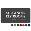 All-Gender TactileTouch Restrooms Sign with Braille