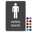 Alpha Males Tactile Touch Braille Sign