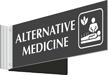 Alternative Medicine Corridor Projecting Sign