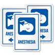 Anesthesia Sign with Patient Receiving Anaesthetic Symbol