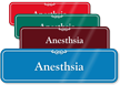Anesthesia Showcase Hospital Sign