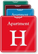 Apartment H Showcase Wall Sign