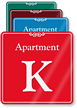 Apartment K Showcase Wall Sign