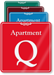 Apartment Q Showcase Wall Sign