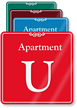 Apartment U Showcase Wall Sign