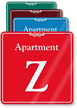 Apartment Z Showcase Wall Sign