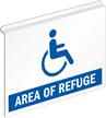 Area Of Refuge Ceiling Sign